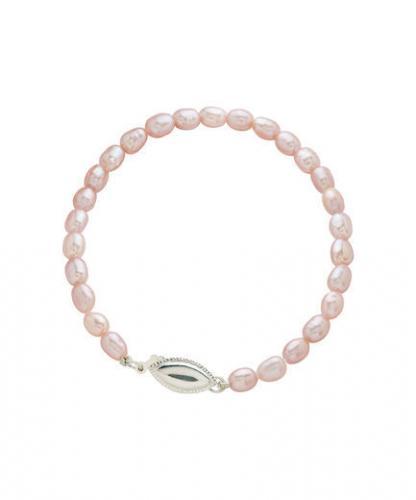 Kasterannekoru vaaleanpunainen helmi, ovaalinen hopealukko, Pirami Pearls