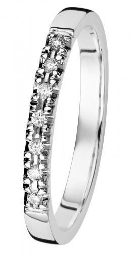 Kohinoor Cristal -timanttisormus valkokulta, 033-244V-07