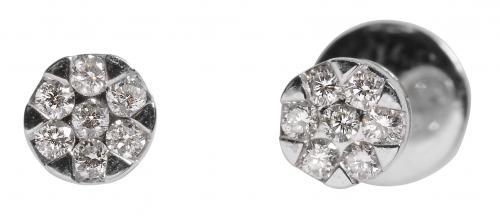 Valkokultaiset timanttikorvakorut 0,14 ct, 24071D