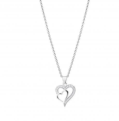 Hopeinen sydänriipus ST5621 06