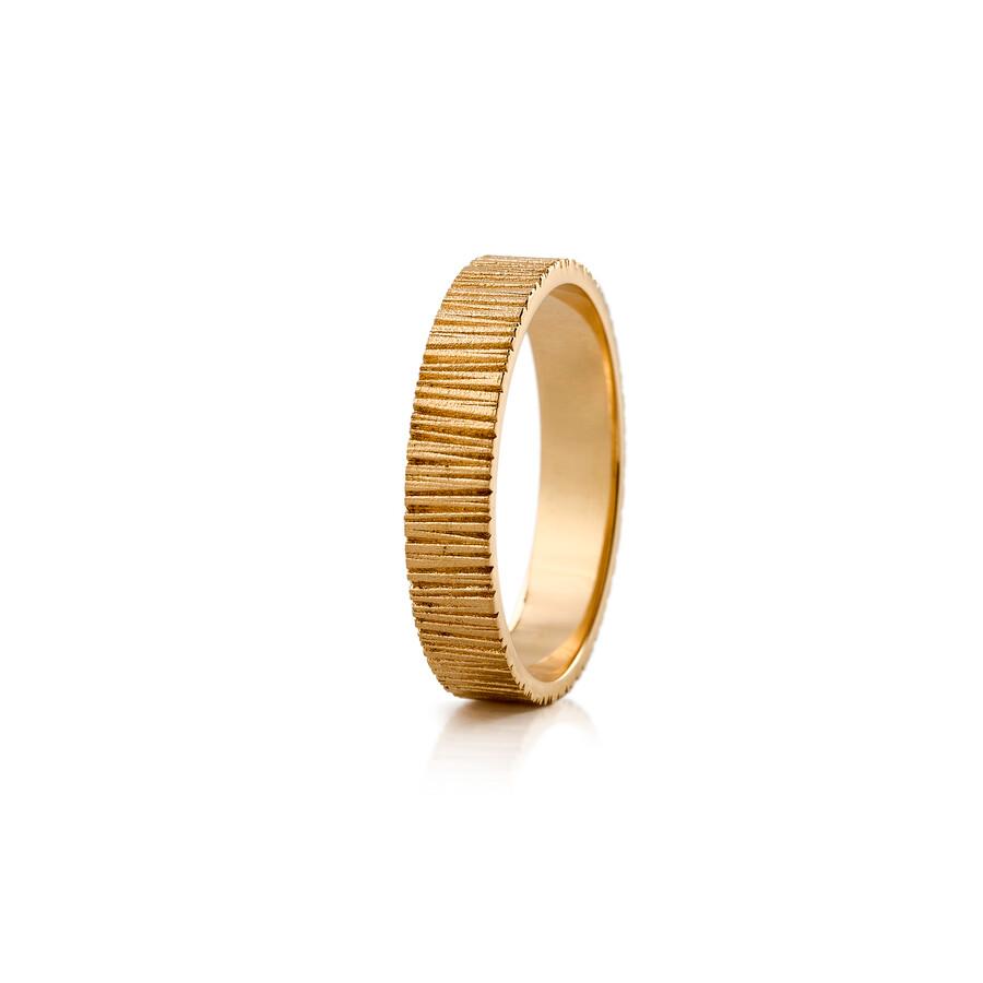 Lumoava Raita kultasormus 5mm