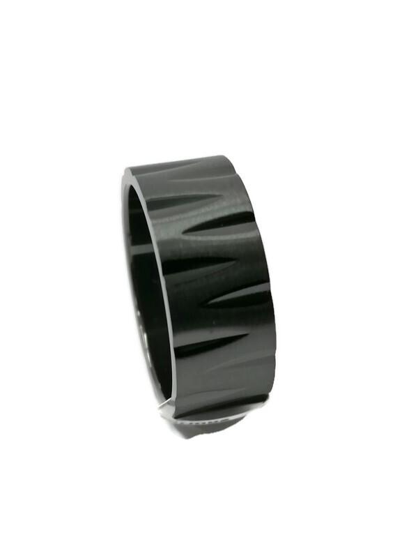 Zirkoniumsormus musta 10 mm