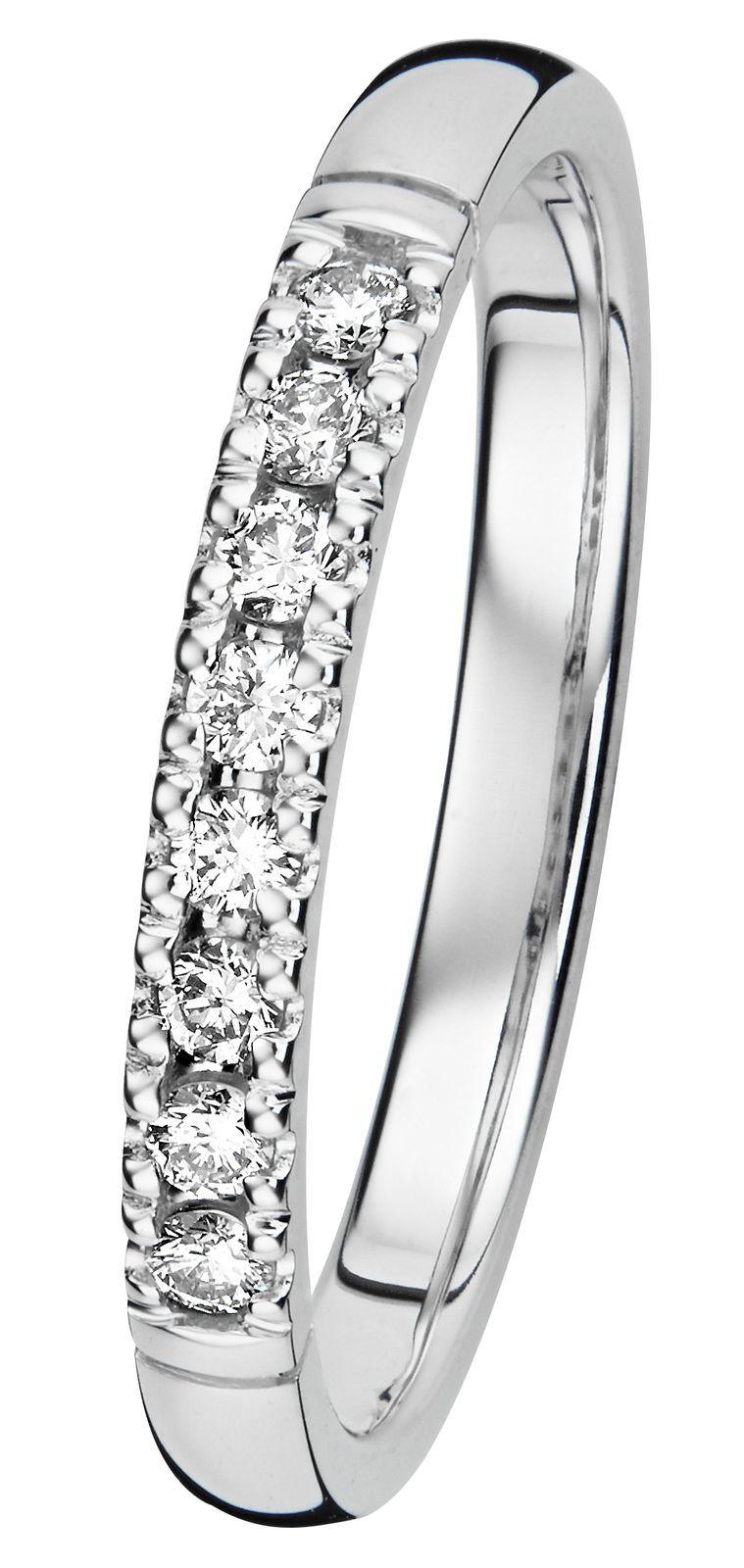 Kohinoor Estelle timanttisormus valkokulta 8 x 0,02 ct, 033-216V-16