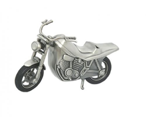 Säästölipas moottoripyörä tinattu