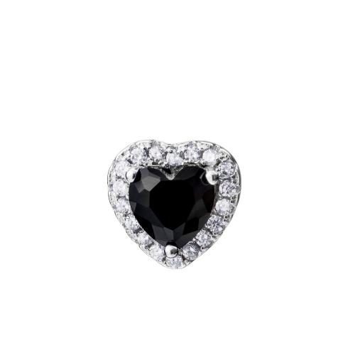 Sorea sydänkorvakorut musta kivi