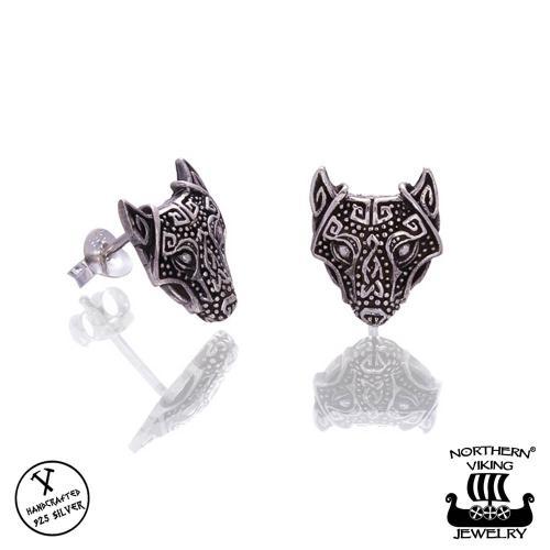 Northern Viking Jewelry guardian wolf korvakorut