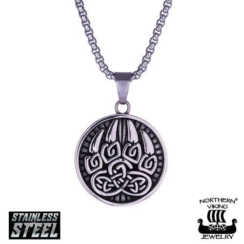 Northern Viking Jewelry karhunkäpälä teräskaulakoru