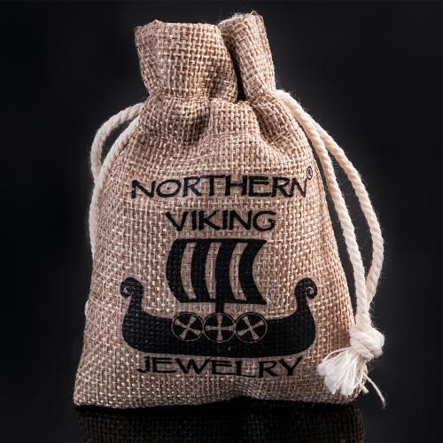 Northern Viking Jewelry Vegvisir korpin kallo teräskaulakoru