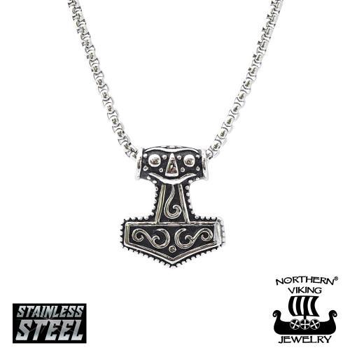 """Northern Viking Jewelry """"Thorin Vasara"""" teräskaulakoru"""