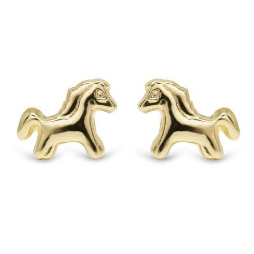 Kultakorvakorut hevonen