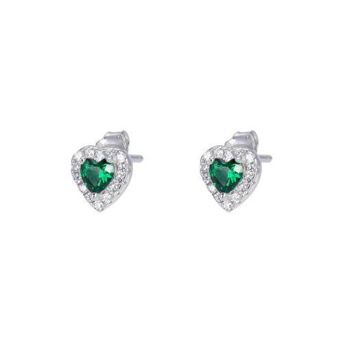 Sorea sydänkorvakorut vihreä kivi