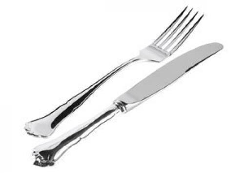 Chippendale veitsi ja haarukka, hopea