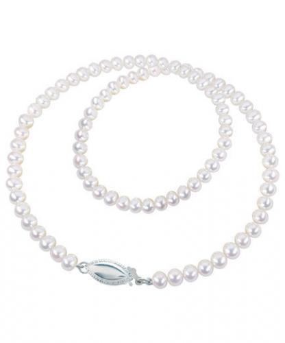 Kastehelminauha valkoinen, ovaali lukko, Pirami Pearls