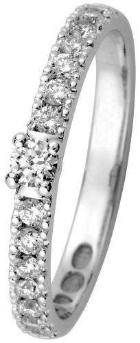 Kohinoor Estelle -timanttisormus valkokulta, 033-216V-24