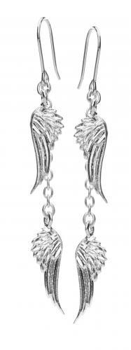 Lumoava Rakkain-korvakorut 5508 00, koukulla, hopeaa