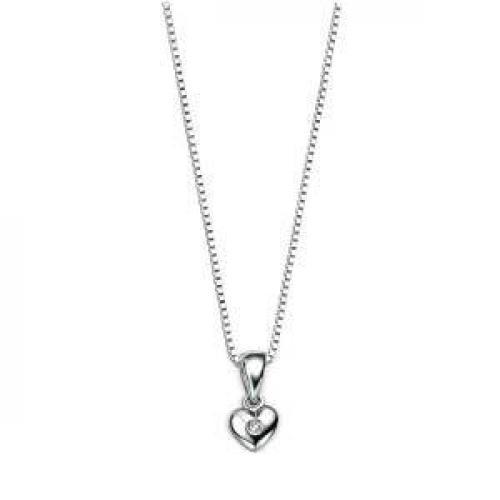 Lasten sydänriipus aidolla timantilla, D for Diamond P620