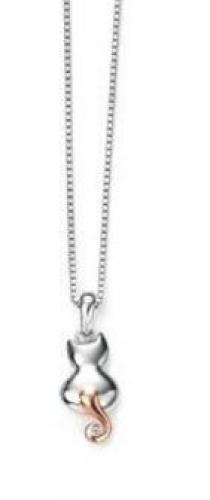 Lasten kissariipus aidolla timantilla, hopeaa, D for diamond  P4371