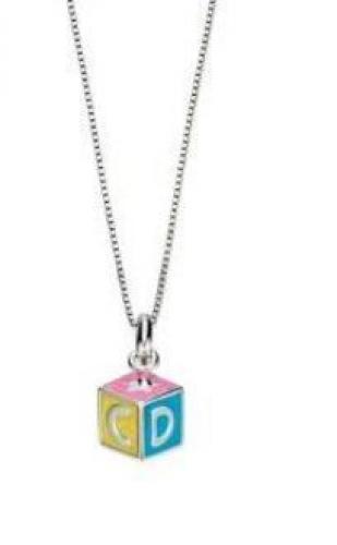 Lasten värikäs ABC-riipus timantilla