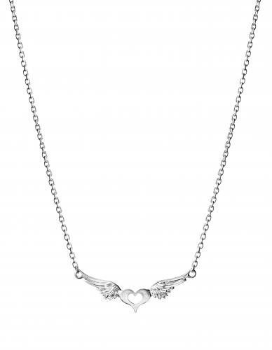 Lumoava Rakkain -kaulakoru, hopeaa 5708 00