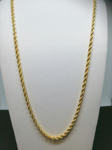 Kultainen kaulaketju kordelli 42cm