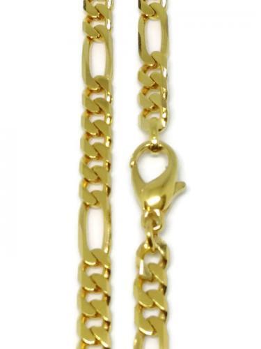 Kultainen 50cm figaroketju