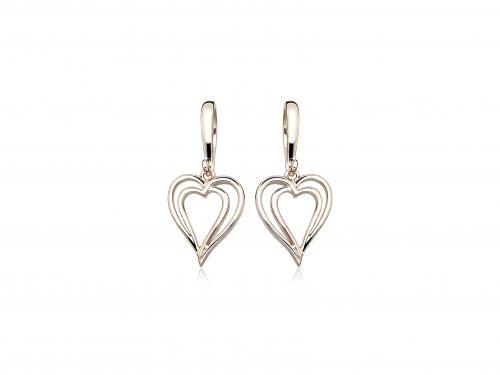 Sorea sydänkorvakorut, punakullattua hopeaa, ST555400000