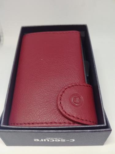 C-secure korttikotelo punainen