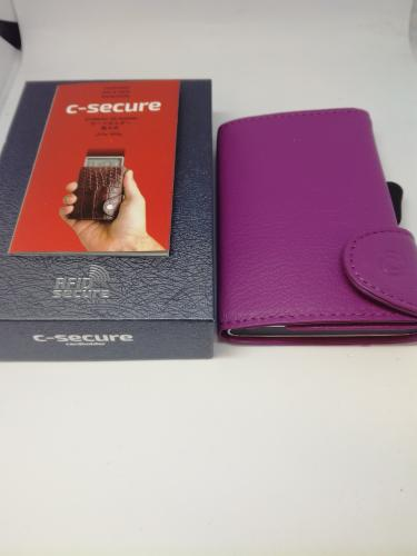 C-secure korttikotelo, Lila