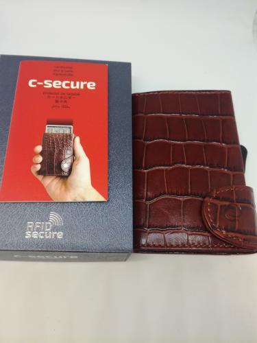 C-secure korttikotelo ruskea kroco