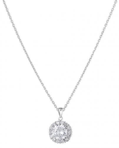 Pyöreä kimalle hopeariipus, Victoria silver