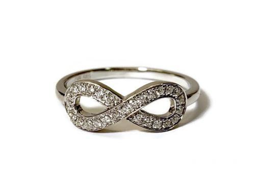 Valkokulta timanttisormus ikuisuus