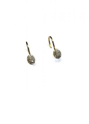 Kohinoor timanttikorvakorut koukkukiinnityksellä
