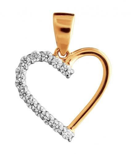 Kultainen sydänriipus VXALP201191-YW-FCZ