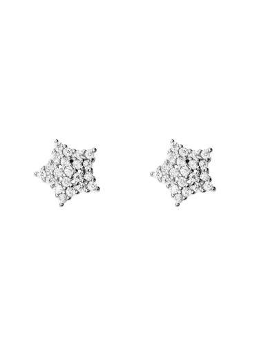 Hopeiset tähtikorvakorut ST5470 06
