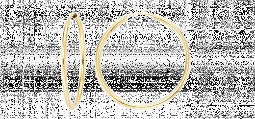 Keltakultaiset 2mm rengaskorvakorut, halkaisija 60mm