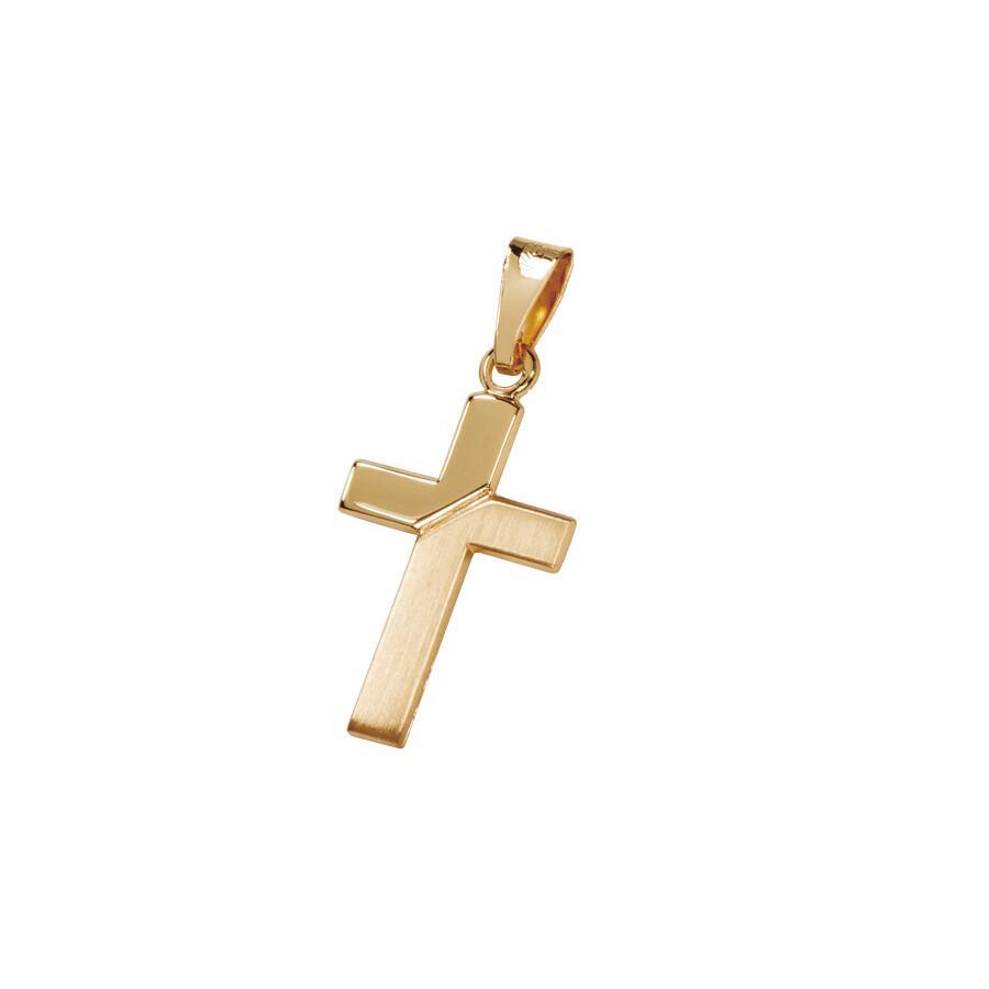 Kultainen ristiriipus kiiltavä/satiini  20mm