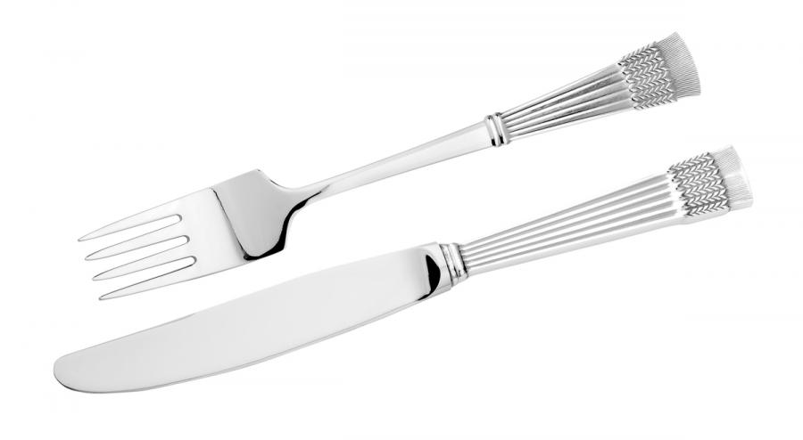 Tähkä veitsi ja haarukka, hopea