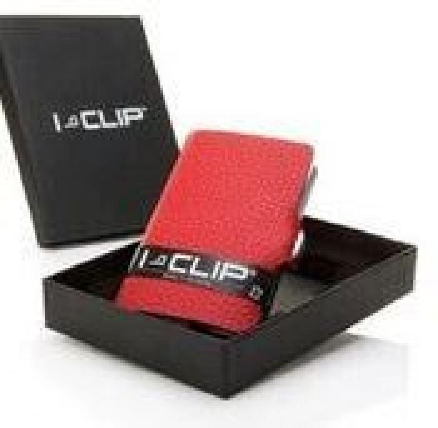I-CLIP korttikotelo punainen.