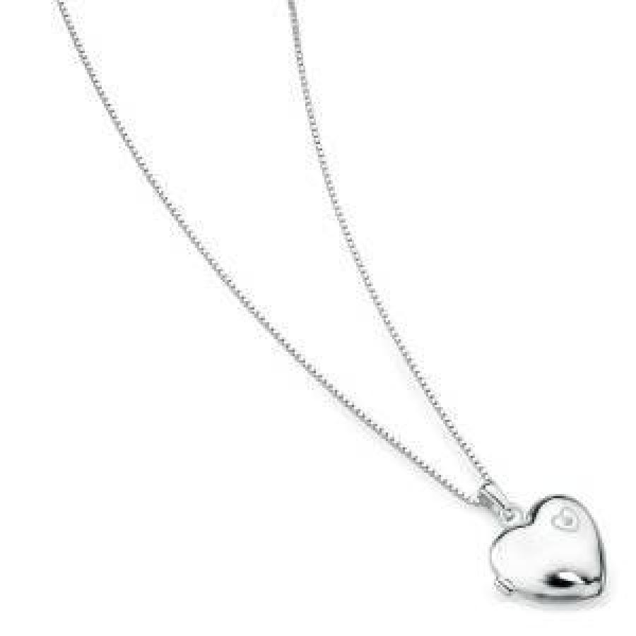 Lasten sydänmedaljonki aidolla timantilla, D for diamond, P2549