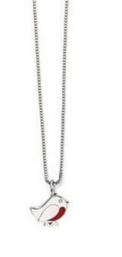 Lasten pikkulintu riipus, hopeaa, aidolla timantilla, D for diamond, P4336