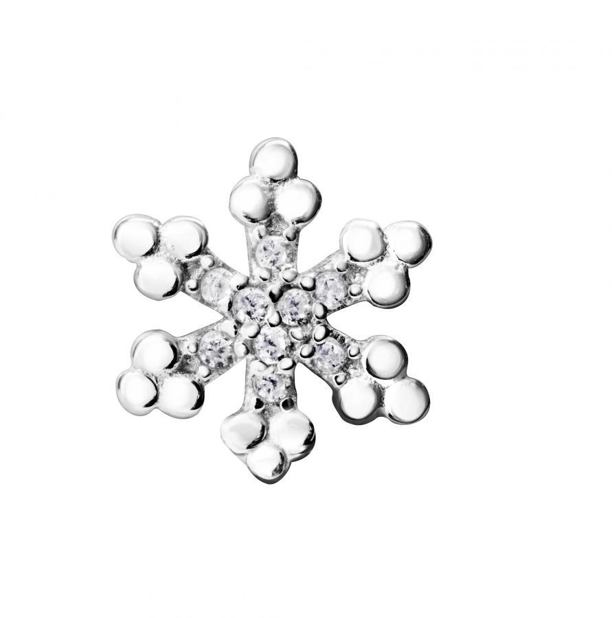 Hopeiset lumihiutale-korvakorut ST5414 06